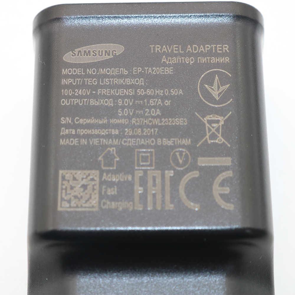 الأصلي لسامسونج التكيف سريع شاحن USB السريع محول 1.2/1.5M نوع C كابل ل غالاكسي S10 S8 s9 plus ملاحظة 8 9 A5 A7 2017