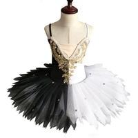 Black White Professional Ballet Tutu Child Kids Ballerina Dress Adults Pancake Tutu Ballet Costumes Toddler Girl Dresses