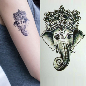 Animal Elephant Temporary Tattoos Vintage Water Transfer Fake Tattoo Sticker Gifts for Women Girls New Arrival image