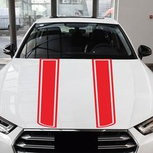Car Hood Sticker Styling Auto Motorcycle Engine Cover DIY Stripe Decoration Reflective Stickers