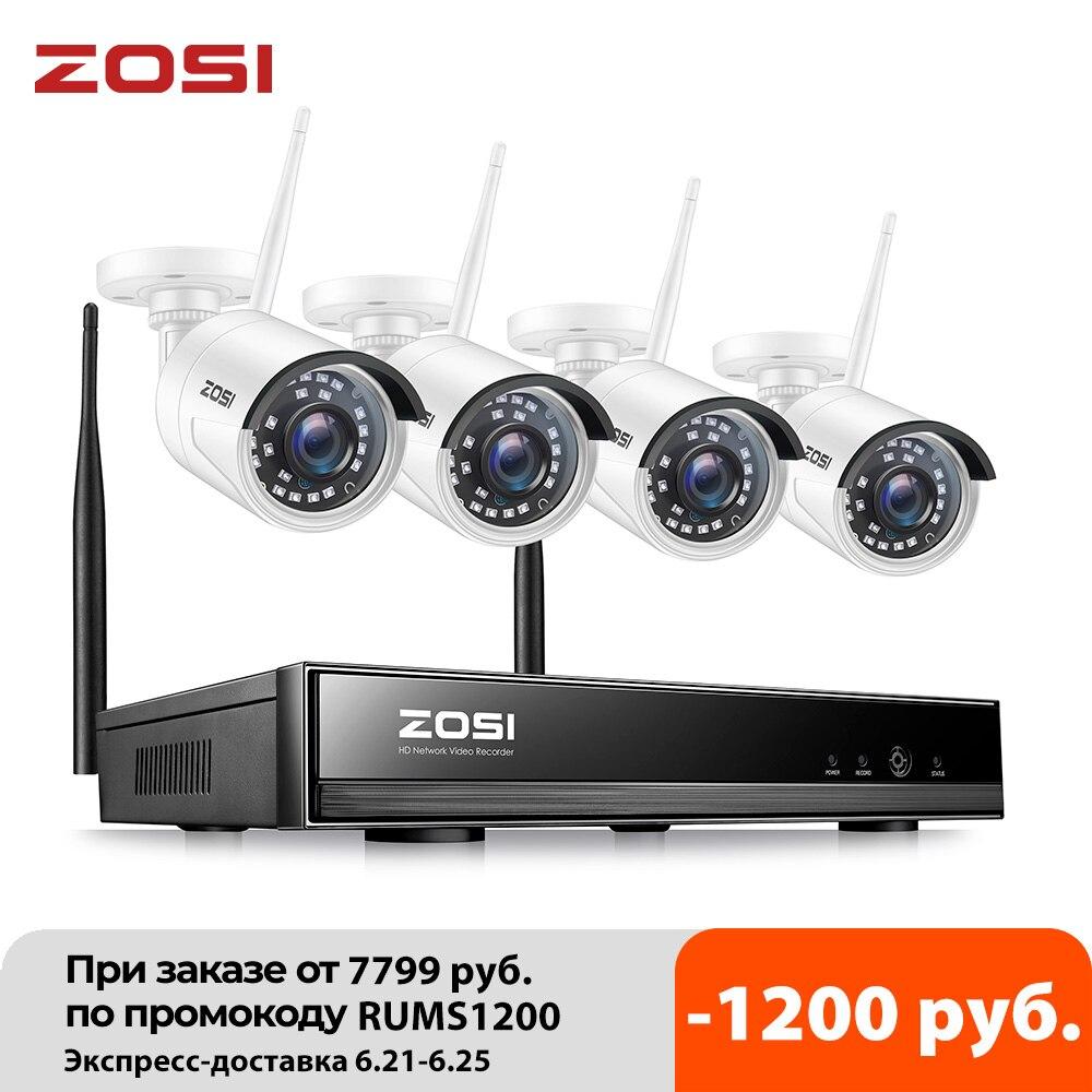 ZOSI 8CH Wireless CCTV System H.265 1080P NVR 2MP IR-CUT Outdoor Video Recorder Camera IP Security System Video Surveillance Kit