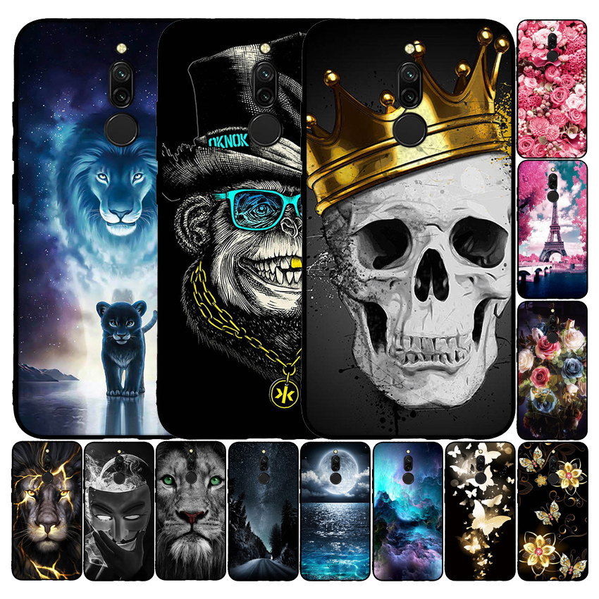 Case For Xiaomi Redmi <font><b>8</b></font> Soft Silicone Cover 3D Cartoon Case For Xiaomi Redmi <font><b>8</b></font> Bumper Funda Cover <font><b>6.22</b></font> inch Coque For Redmi <font><b>8</b></font> image