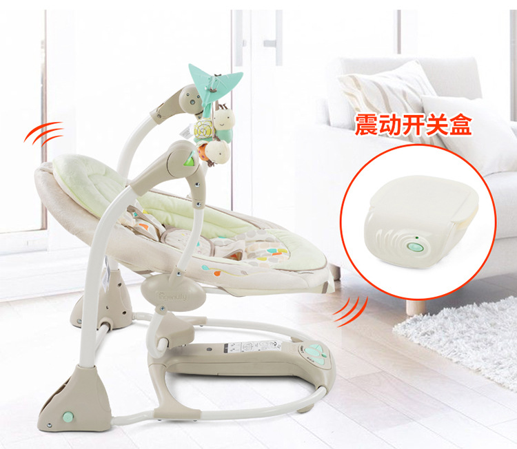 H6e2a1b93b7b24493a7e180429c70e7edu Newborn Gift Multi-function Music Electric Swing Chair Infant Baby Rocking Chair Comfort Cradle Folding Baby Rocker Swing 0-3Y