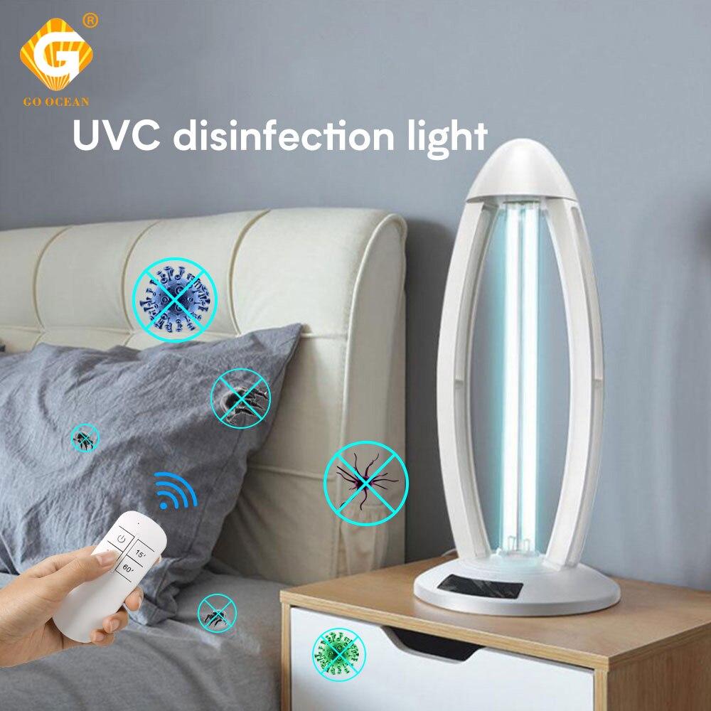 Ozone Ultraviolet Sterilizer Light Bactericidal 220V 38W 110V UVC Germicidal Lamp Disinfection Tube Kill Mites Home Store