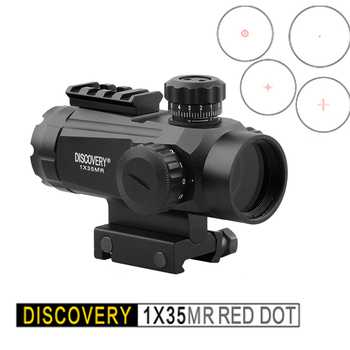 Discovery 1X35 Holographic Rifle Scope Micro Red Dot Quick Targeting Hunting Optical Air Gun Sights For 20mm Picatinny Rail