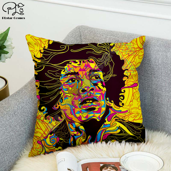 Rock singer Bob Marley/The Hillbilly Cat Hip Hop Pillow Case Polyester Decorative Pillowcases Throw Pillow Cover Square style-10 image