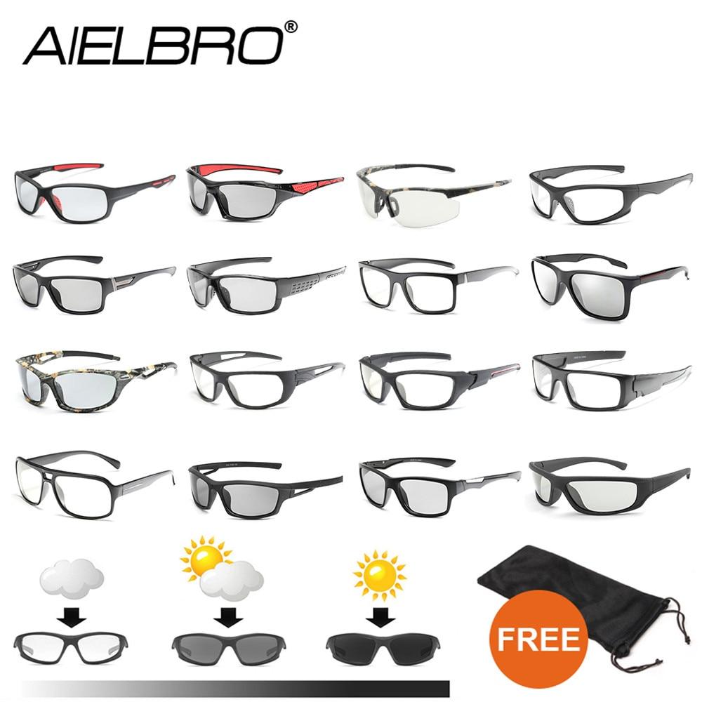 AIELBRO Photochromic Sunglasses Men Polarized Driving Cycling Hiking Chameleon Glasses Male Change Color SunGlasses Eyewear