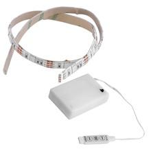 Wasserdicht 4,5 V Batterie Betrieben 50CM RGB LED Streifen Licht Handwerk Hobby Licht Heißer Verkauf mit Batterie Box
