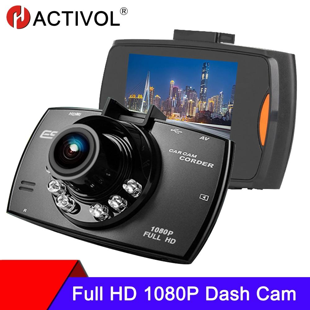 Видеорегистраторы для автомобилей видеорегистратор 1080P 120 градусов Dashcam вождения Регистраторы цикл Запись Ночное видение Широкий формат ви...