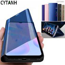 Fundas para asus zenfone max pro m2 zb631kl zb630kl clear view cover luxo espelho inteligente caso do telefone da aleta coque