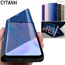 Huawei-funda huavie con espejo inteligente, carcasa con tapa para huawei p 40 lite p40 light 2020, soporte para libro, p40-lite