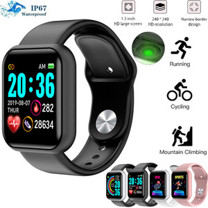Y68 Sports Smart Watch Heart Rate Blood Pressure Oxygen Bracelet Fitness Tracker Smart Bracelet Waterproof|Smart Watches| |  -