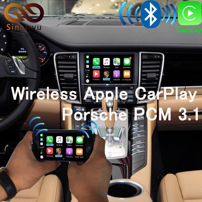 Sinairyu OEM Sans Fil Apple CarPlay pour Porsche PCM 3.1 Android Auto Cayenne Macan Cayman Panamera Boxster 718 991 911 jeu de voiture