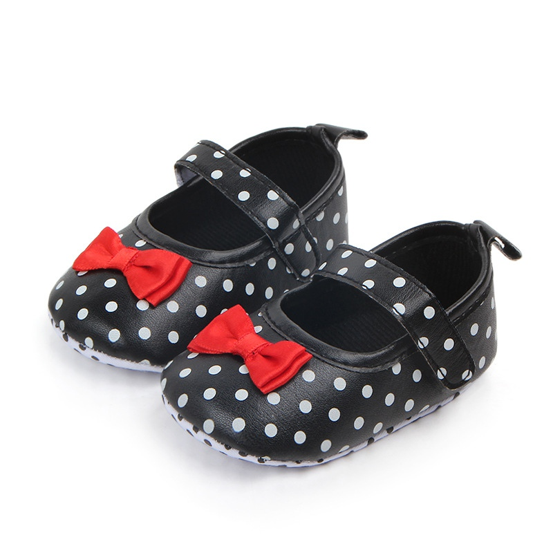 Spring Autumn Baby Anti-slip Polka Dot Shoes Girl Kids Soft Sole First Walkers Casual Walking Shoes New