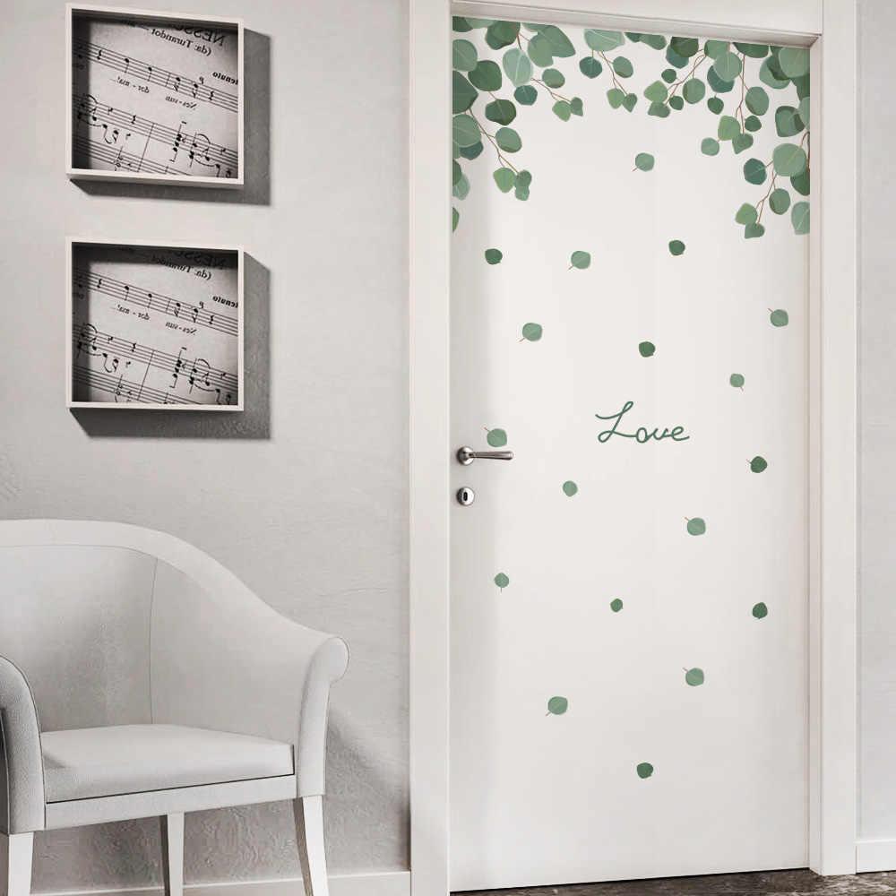 Dormitorio planta puerta pegatinas etiqueta de la pared para niños habitación pared decoración de la sala de Cornersticker bebé accesorios para el hogar