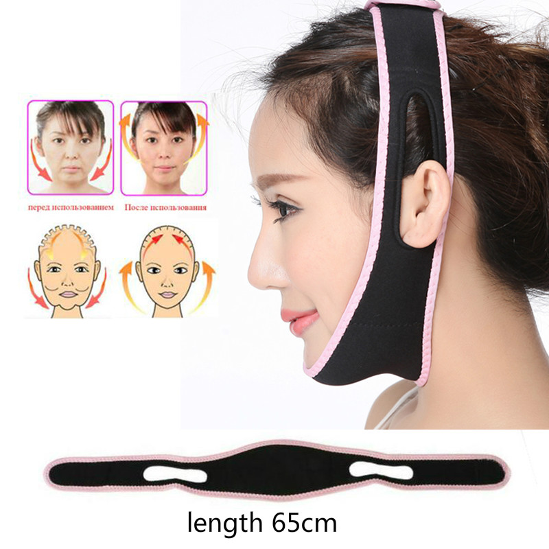 V Face Lift Up Belt Sleeping Sliming Face Mask Massage Shaper Band Facial Night Mask Bandage Double Chin Skin Face Bandage Belt