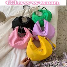 Mini sac à main de styliste en cuir pour femmes, sac à bandoulière sous les bras rose avec chaîne en métal, sacs Baguette de fête