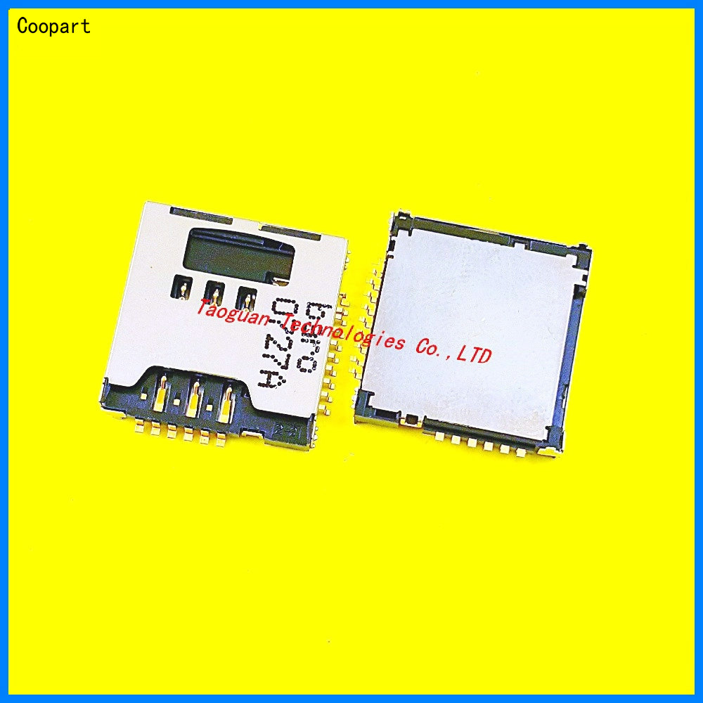 2pcs/lot Coopart New SIM Card Socket Reader Holder Slot Replacement For SAMSUNG Galaxy S5230 S5233C S3930 W589 F488E M628 B3210