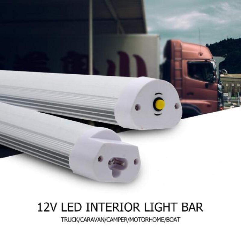 12V Car LED Interior Light Camper Lamp Bus Caravan Camper Motorhome Boat White For Van Lorry Boat Multiple Transporter