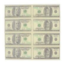 10 шт 100 долларов деньги бумажные салфетки с рисунком Толстая