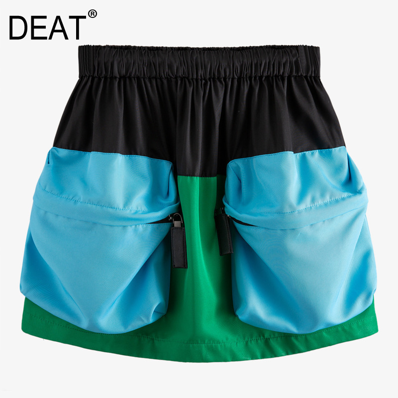 DEAT 2020 New Spring And Summer Fashion Women Clothing High Short Drawtring Pockets Shorts Female Hots WM23201L