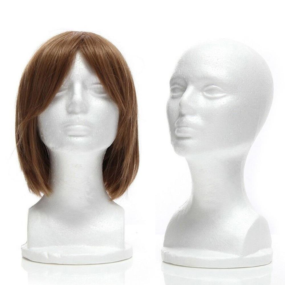 mannequin head Female Fashion Styrofoam Foam Head Model Glasses Hat Wig Display Stand full body female