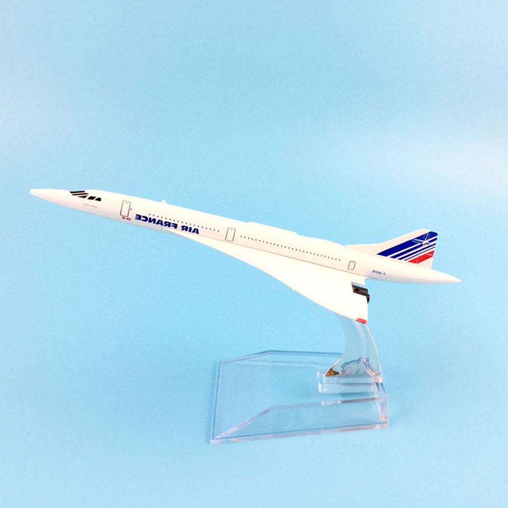 1/400 Diecast Air France Concorde Plane Collection Model 16CM Airplane Metal Plane Model Aircraft Model Building Kits Toy image