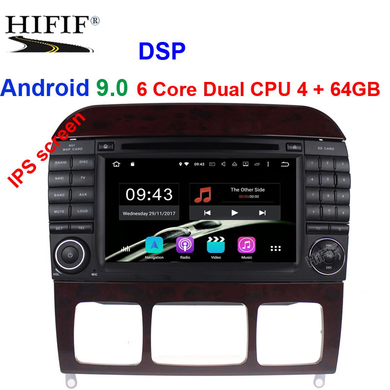 Android 9.0 7 Inch Car Radio Player <font><b>For</b></font> <font><b>Mercedes</b></font>/Benz/S320/S350/S400/<font><b>S500</b></font>/W220/W215/C Class S Class 4G RAM 3G/4G WIFI Radio <font><b>GPS</b></font> image