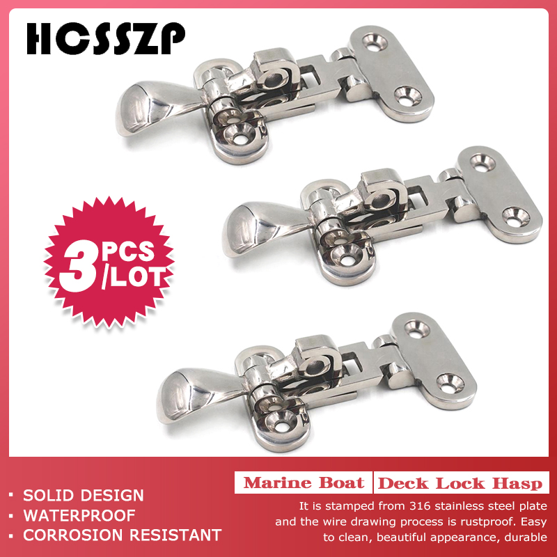 3 Pcs 110mm Marine Boat Deck Locker Anti Rattle Latch Fastener 316 Stainless Steel Lockable Hold Down Clamp Hasp Free Shipping-in Marine Hardware from Automobiles & Motorcycles