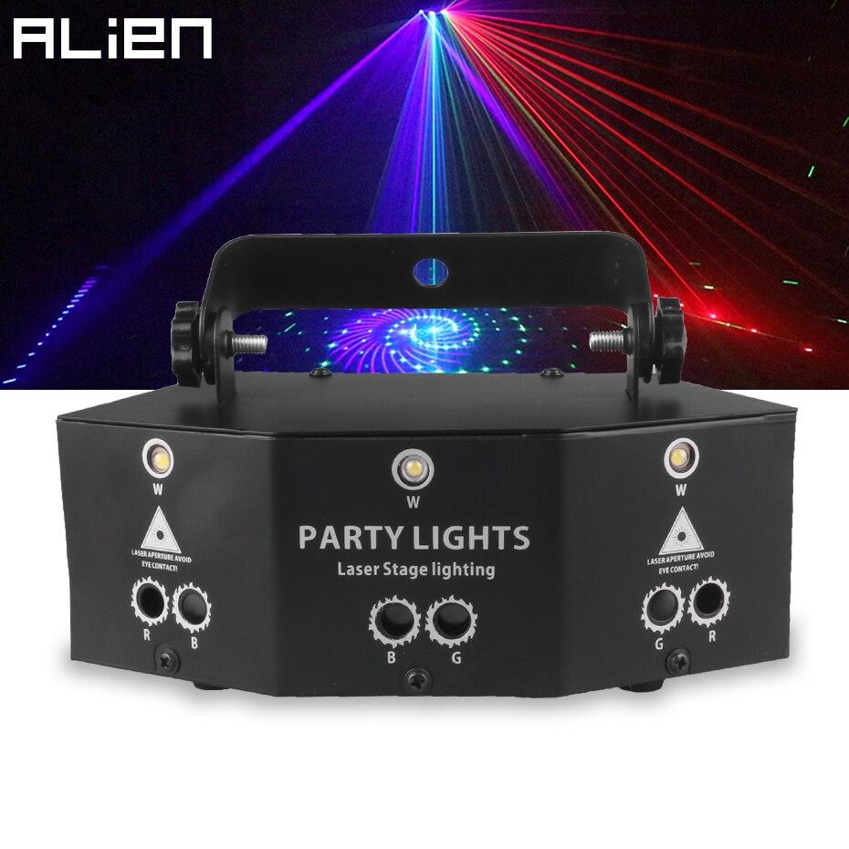 ALIEN 9 Auge RGB Disco DJ Strahl Laser Licht Projektor DMX Remote Strobe Bühne Beleuchtung Wirkung Xmas Party Urlaub Halloween lichter