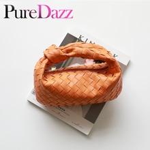 Women Weaving Bag Fashion Designer Large Hobo Genuine Leather Crossbody Handbag