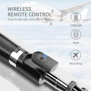 Image 5 - Drahtlose bluetooth Selfie Stick Mit Füllen Licht Stativ Faltbare Stative & Einbeinstative Universal Für SmartPhones