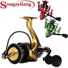 Yumoshi Salt Water Fishing Reel Molinete Feeder Carretilha de pesca 12bb 5.5:1 High Quality Spinning Reels