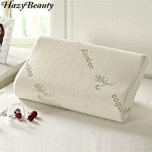 Hazy Beauty Bamboo Memory Foam Orthopedic Neck Soft Pillow Massager Fiber Slow Rebound Foam Travel Pillow Cervical Health Care
