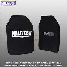 בליסטי פלייט Bulletproof NIJ רמת 3 + NIJ 0101.07 RF1 SAPI בגודל 2 PCs קל במיוחד Pe פנל נגד M80 & AK47 & M193 Militech