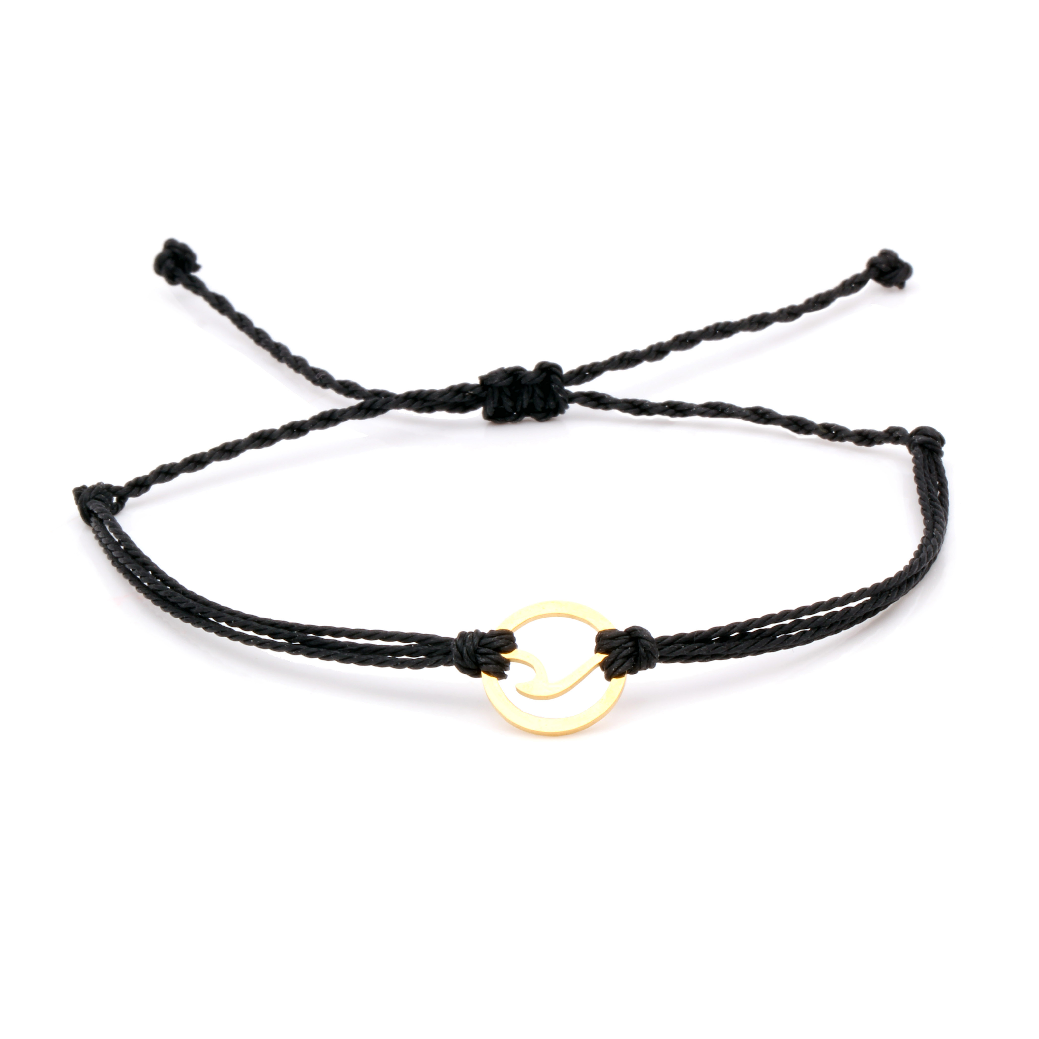 Onda de aço inoxidável charme pulseiras à prova dwaterproof água preto branco azul encerado corda gunblack ajustável verão praia surf pulseira