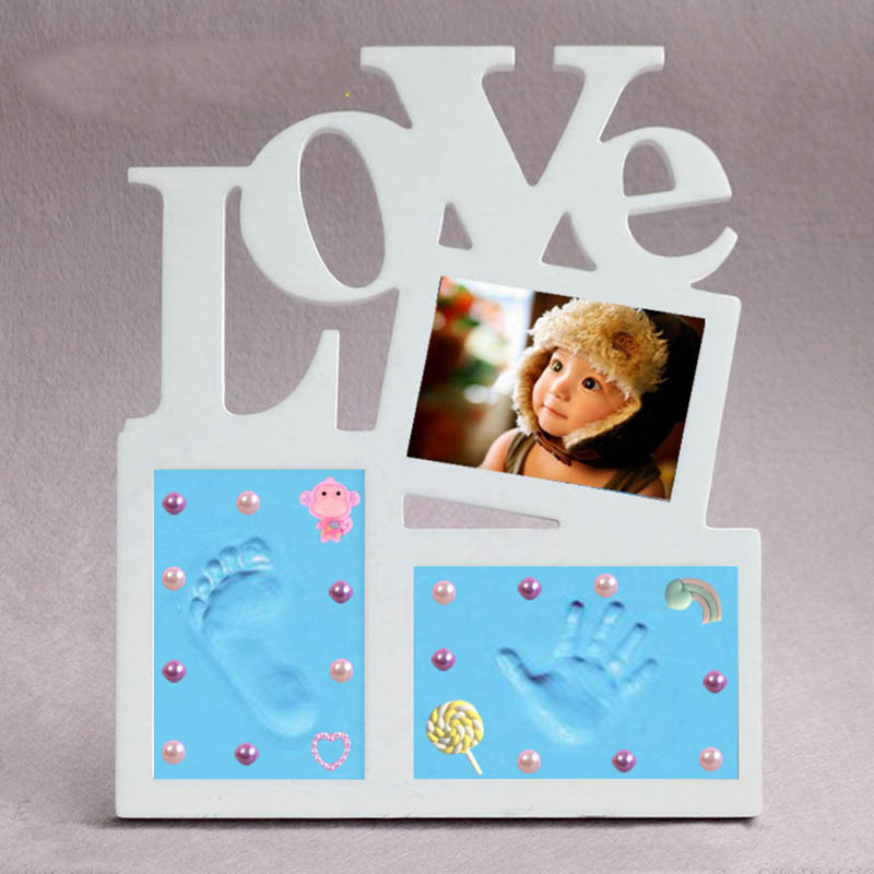 Photo Frame Baby Footprint Foot Or Hand Print Cast Set DIY Handprint Parent-child Hand Fingerprint Baby Growth Memorial Gift