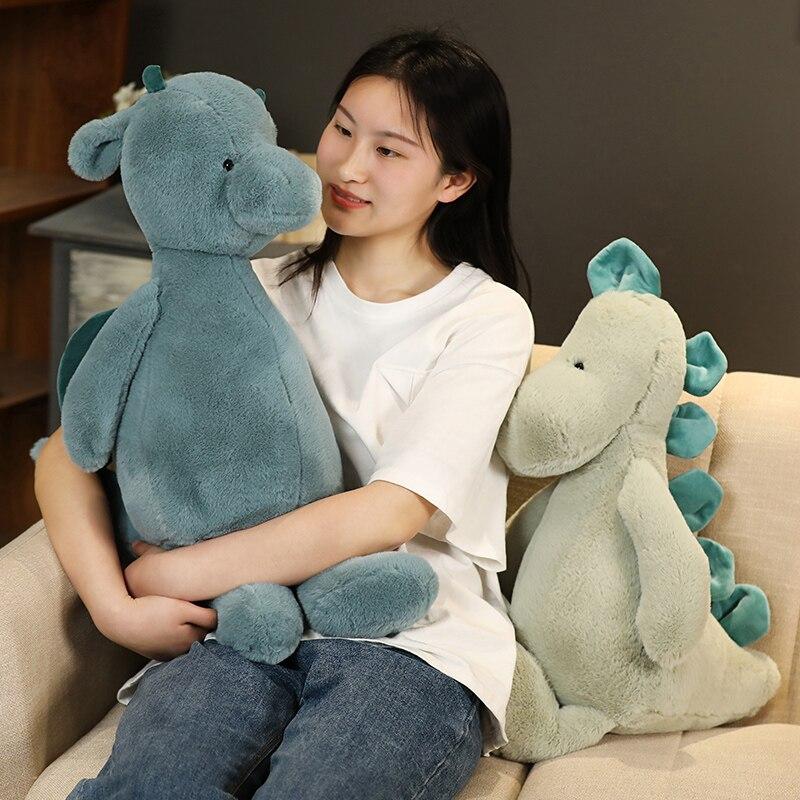 60/90cm Soft Lovely Dinosaur Plush Doll Cartoon Stuffed Animal Dino Toy for Kids Baby Hug Doll Sleep Pillow Kawaii Birthday Gift