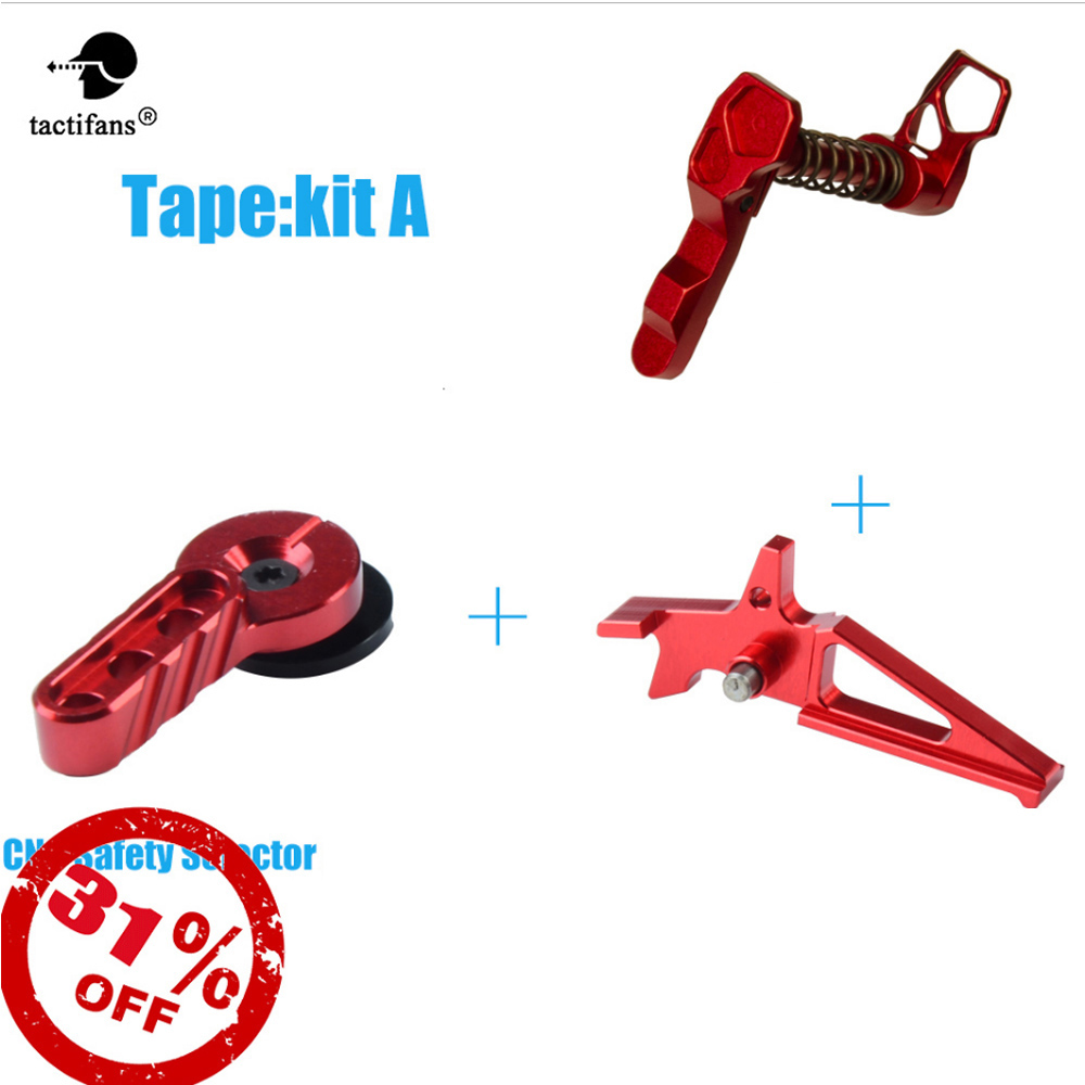 CNC IPSC Aluminum Magazine Release Catch Set For M4/m16 AEG Airsoft Red Accessories Safety Selector Switch Levers