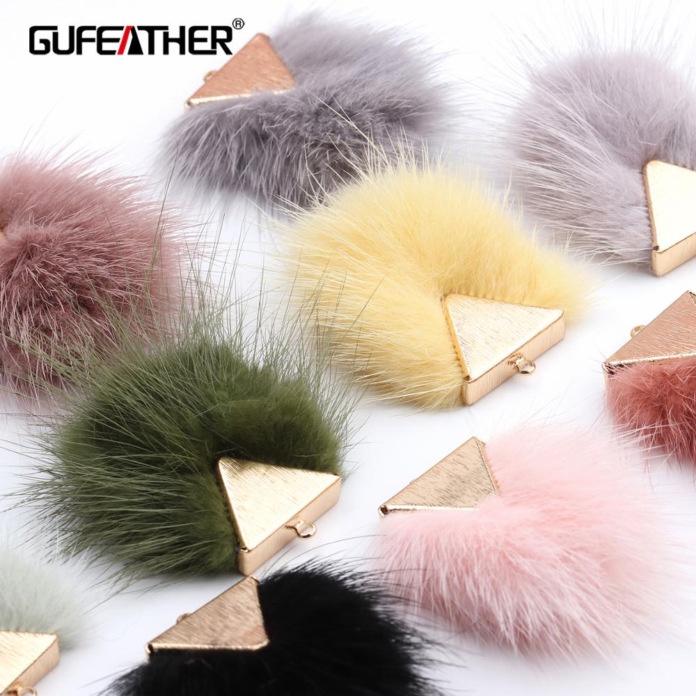 GUFEATHER M492,jewelry Accessories,hand Made,real Fur Mink,diy Accessories,copper Metal,jewelry Making,diy Earrings,6pcs/lot