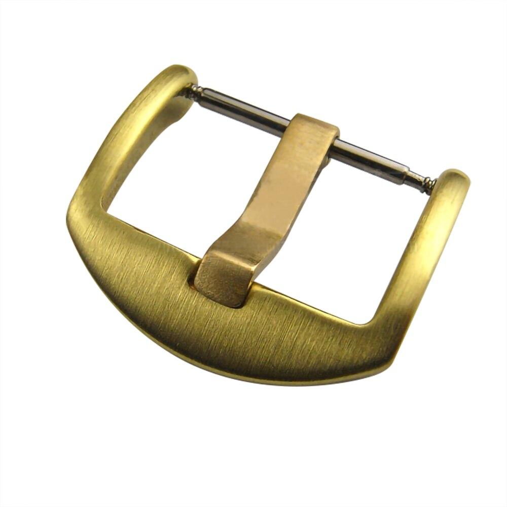 Watch Band Clasp 18mm 20mm 22mm 24mm Bronze Brass Leather Watchbands Strap Pin Buckle Belt Watch Accessories