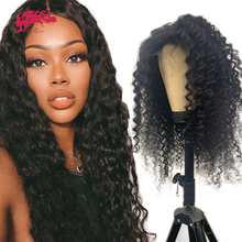 """Deep Wave Curly 13x4 Lace Front Wig Natural Black Short Bob Wig With Baby Hair 8"""" 26"""" Brazilian Remy Human Hair Wigs For Women"""