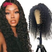 """Głęboka fala kręcone 13x4 koronkowa peruka na przód naturalna czarna peruka z krótkim bobem z dzieckiem włosy 8 """" 26"""" brazylijski Remy ludzki włos peruki dla kobiet"""