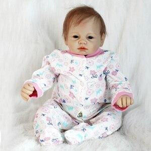 """Image 4 - OtardDolls 22 """"lalki Bebe Reborn 55cm Handmade Reborn laleczka bobas winylu silikonowe boneca realistyczne zabawki dla dziewczyn urodziny prezenty"""