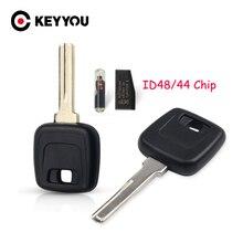 KEYYOU Car Key Shell Case Cover Housing Case For Volvo S40 V40 D30 S60 S80 XC90 XC60 With ID48/ID44 Chip NE66 HU56R Blade