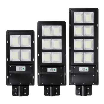 LED Solar Wall Lamp 300W 600W 900W IP65 Street Light Radar Motion 2 In 1 Constantly Bright Solar Sensor Timming Control Lamp