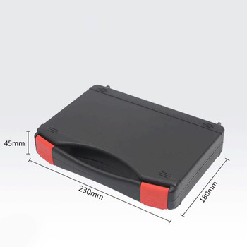 230x180x45mm Plastic Hard Case Black Briefcase ToolBox Carrying Case Portable Tool Case, Protect Tools, Testing Equipment