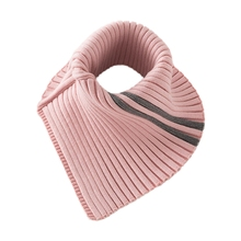 Triangle Scarf Wrap Detachable Neck-Warmer Turtleneck Fake-Collar Ribbed Knitted Stretchy