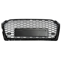 Racing Grills For Audi A5 S5 RS5 17 19 Front Sport Hex Mesh Honeycomb Hood Grill Gloss Black For RS5 Style 2017 2018 2019
