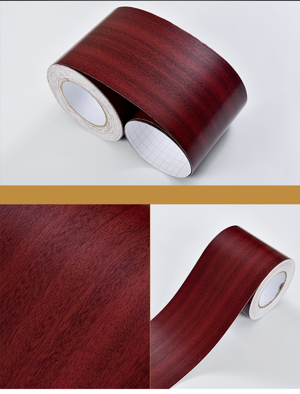 Wood Self Adhesive Window Decal Living Room Floor Border Skirting Contact Paper Waterproof Waist Line Wallpaper Home Improvement H6e2d414ebbe44280ad29634bc1c446f2T